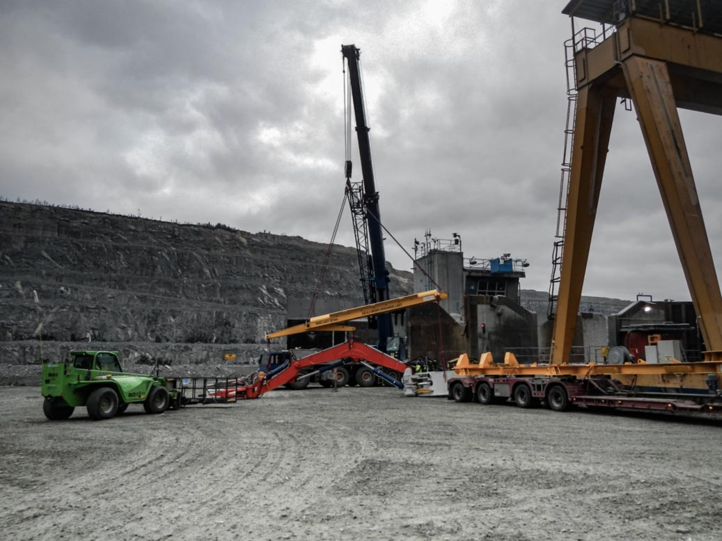 En bild på gruvarbete