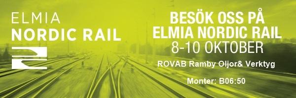 Inbjudningsbild till ELMIA Nordic Rail 2019, ROVAB